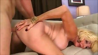 Awesome mature anal porn with a blonde