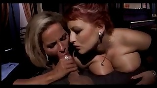 Two busty sexy dolls love oral sex