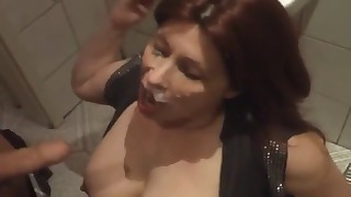 Good-looking oral sex with a redhead mature