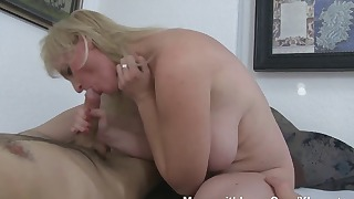 Sweet busty blonde mature likes anal sex