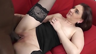 Spicy mature hairy anal session with BBC