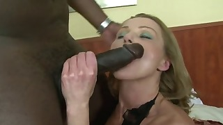 Seduced mature hottie fucked by a big black cock