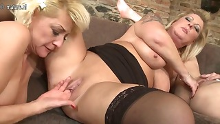 Lesbian older mature porn with three babes