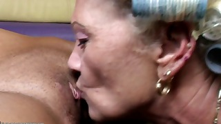 Adorable mature angel is having fun with girls