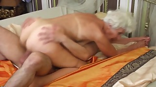 Beautiful blonde mature fucked by a big dick