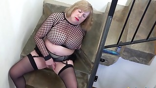 Lusty chubby mature HD 1080p solo action