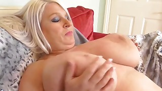 Hot mature HD solo with a chubby blonde
