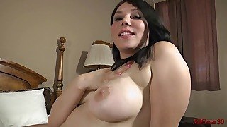 Stunning brunette mature rides on a big dick