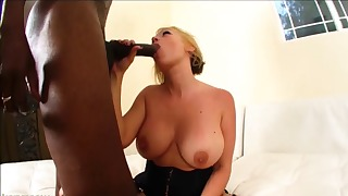 Gorgeous interracial mature fuck with a blonde